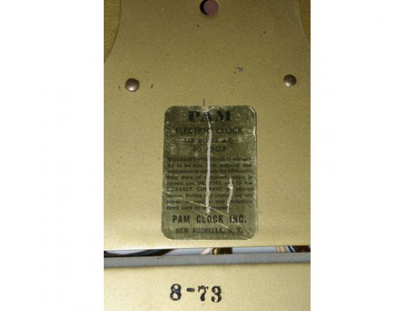 11: Vintage Grapette Soda Advertising PAM Clock  - 4