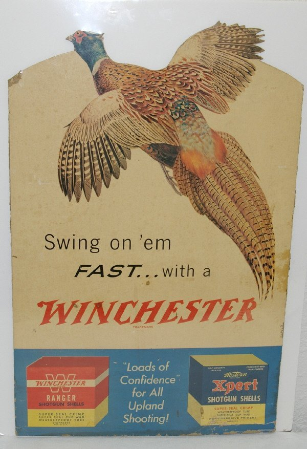 19: Winchester Die Cut Counter Top Advertising Sign