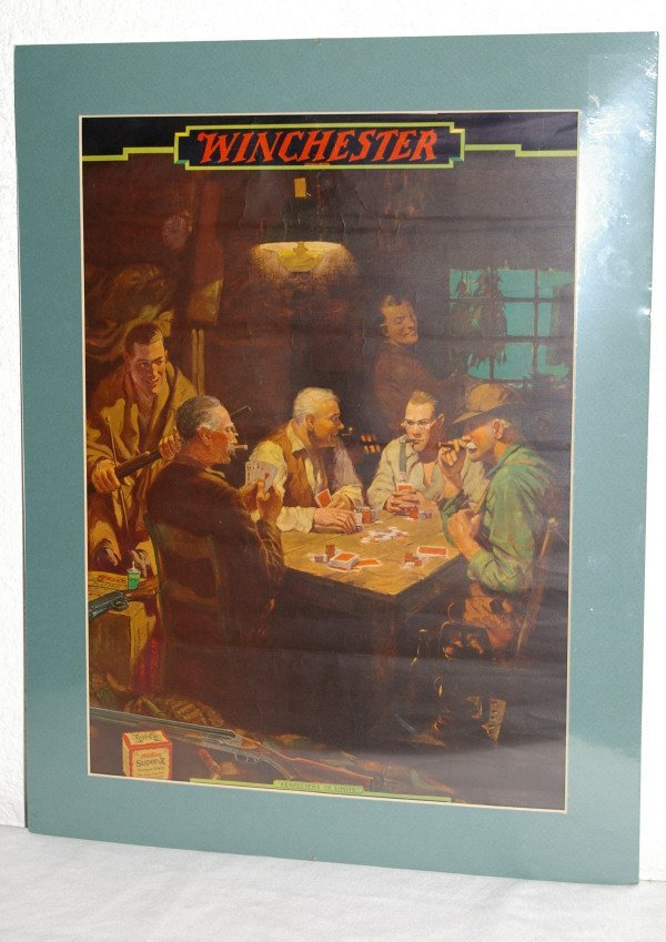 20: Winchester Advertising Poster Poker Players