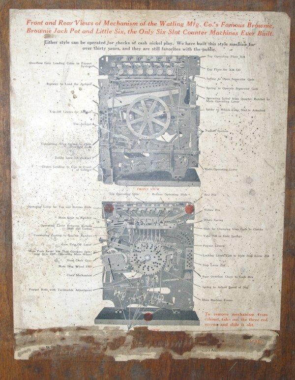 111: Antique Watling Slot Machine Oak Case Ben Hur - 10