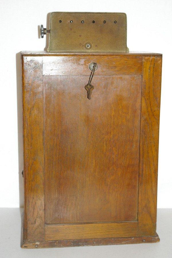 111: Antique Watling Slot Machine Oak Case Ben Hur - 8