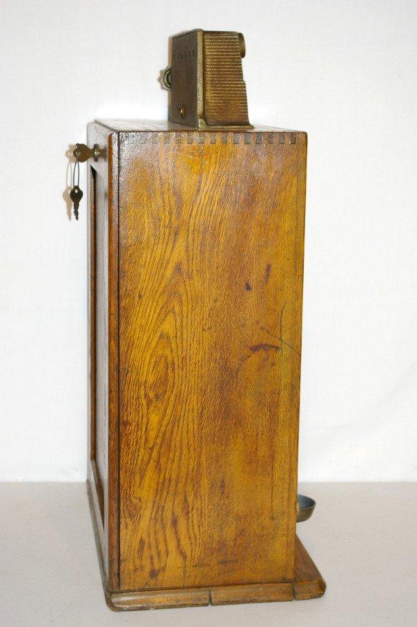 111: Antique Watling Slot Machine Oak Case Ben Hur - 9