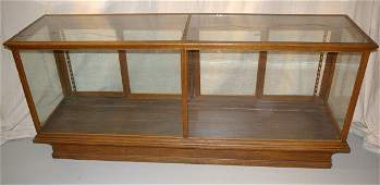 223A: Large Oak General Store Display Case