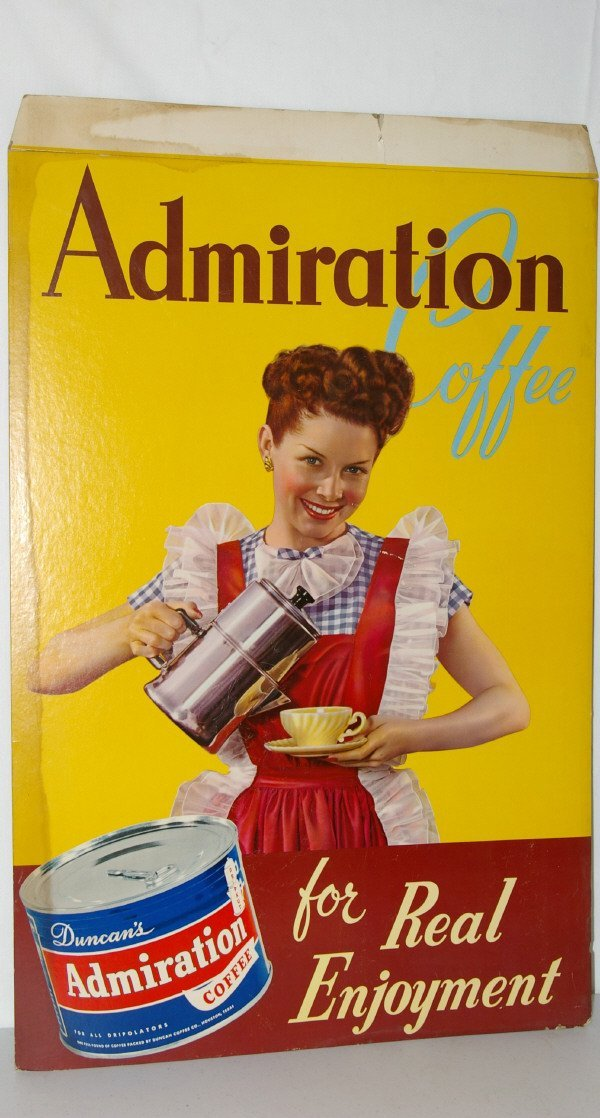 """508: """"Admiration Coffee"""" Counter Top Display Ad"""
