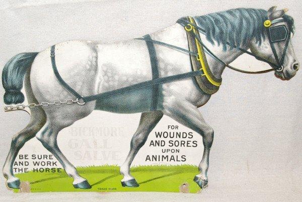 509: Bickmore Salve Cardboard Die-Cut Sign