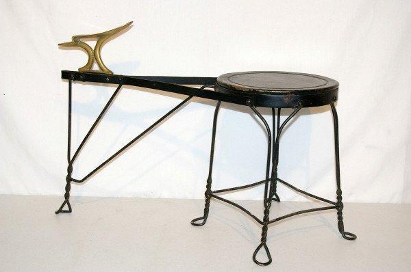 510: Iron & Brass Shoe Shine Bench