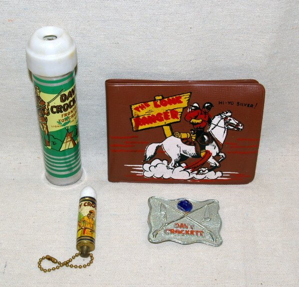 514: Collection Of Davy Crockett And Lone Ranger Toys