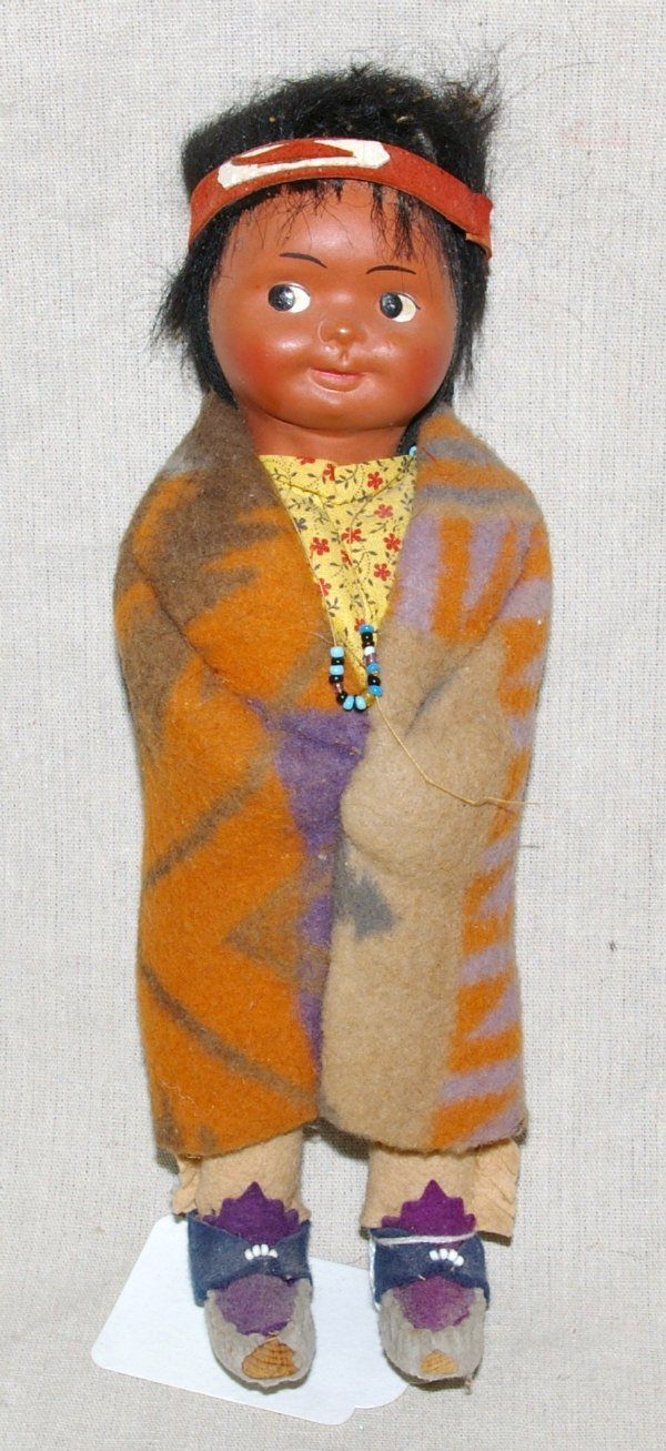 7: Skookum Native American Indian Doll