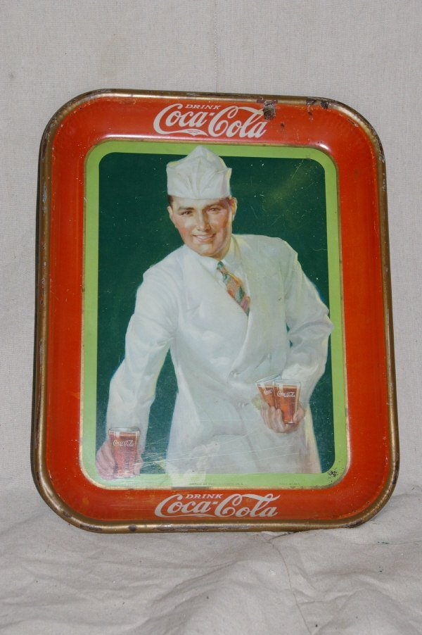 17: 1927 Coca Cola Advertising Tray Soda Jerk.