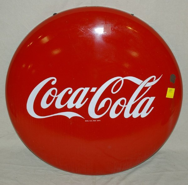 20: Coca-Cola Advertising Porcelain Button Sign