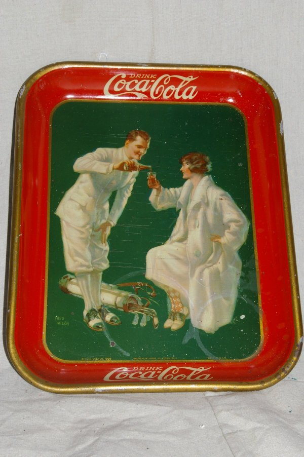 21: 1926 Coca Cola Advertising Tray Golf