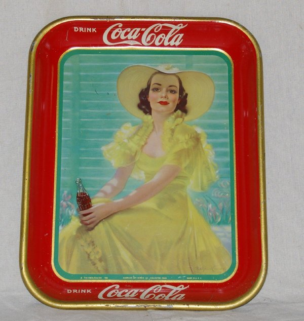 22: 1938 Coca Cola Advertising Tray
