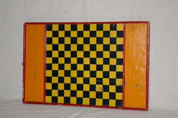 26: Painted Primitive Wooden Game Board