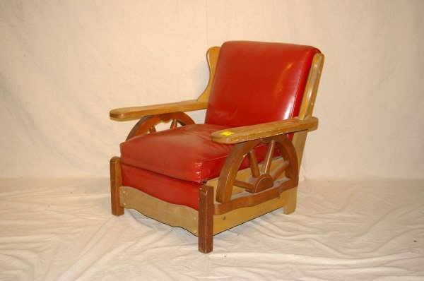 267: Old Western Wagon Wheel Chair Ranch Oak Style - 2