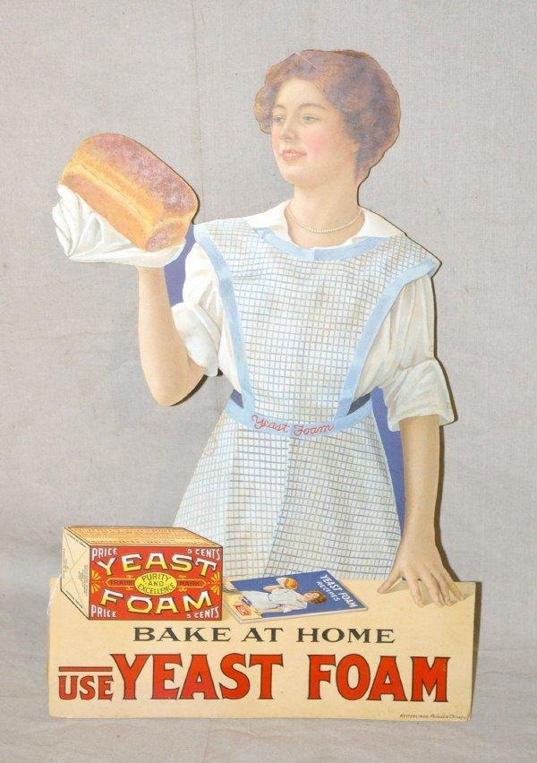 501: Yeast Foam Die Cut Country Store Advertising
