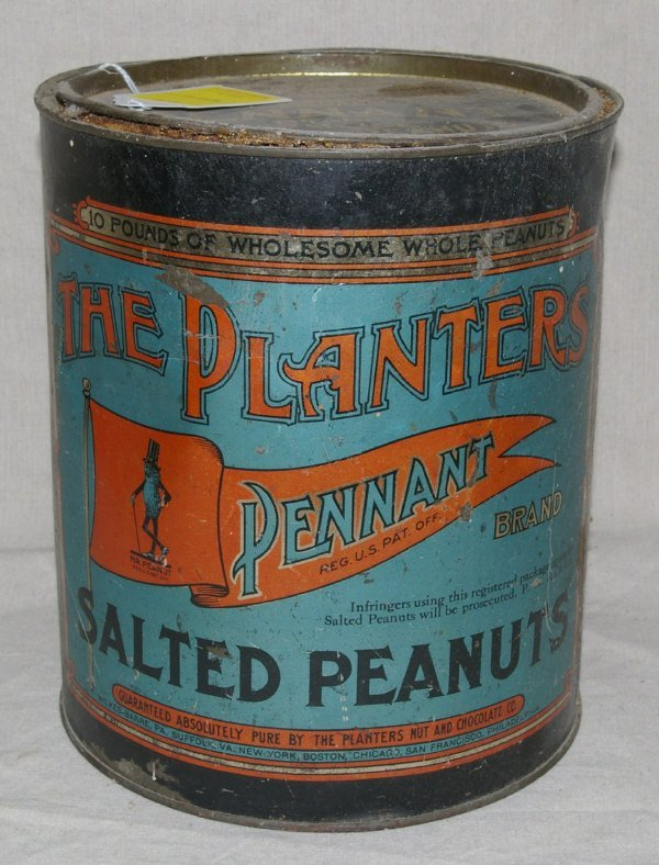 502: The Planters Pennant Brand Salted Peanuts Tin