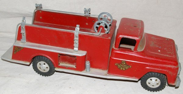 503: Tonka Toys Pressed Steel Fire Truck Marked # 5