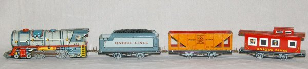 504: Unique Art Tin Toy Train.