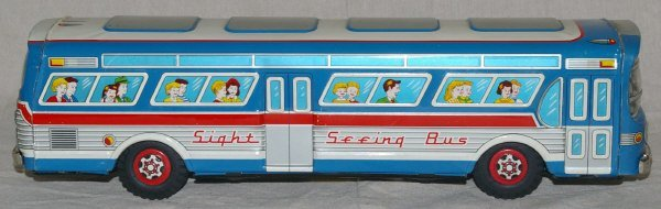 505: Tin Toy Bus. Battery Operated