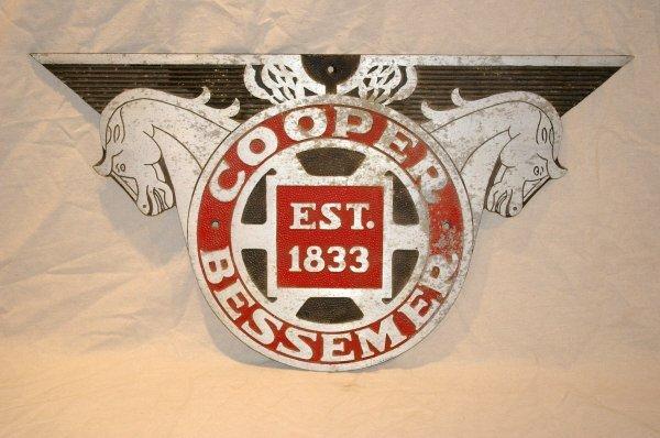 511: Aluminum Cooper Bessemer Advertising Sign