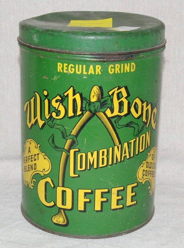 518: Wishbone Combination Coffee Tin