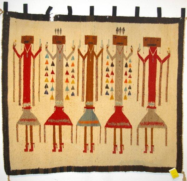522: Navajo Indian Yei Rug