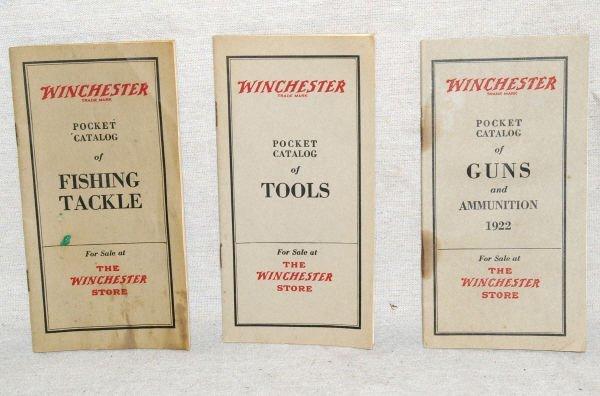 1006: Three Winchester Guns Fishing & Tools Catalogs