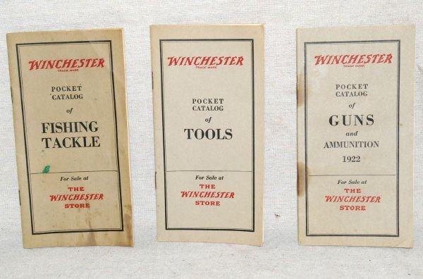 1006: Three Winchester Guns Fishing & Tools Catalogs