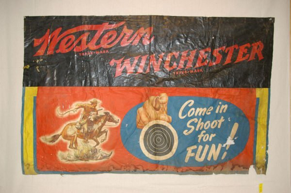 1010: Winchester Shooting Gallery Banner Advertising