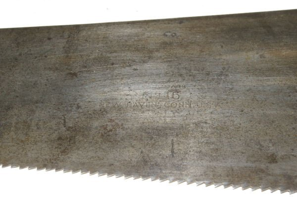 1053: Vintage Winchester Tools No 16 Hand Saw - 3