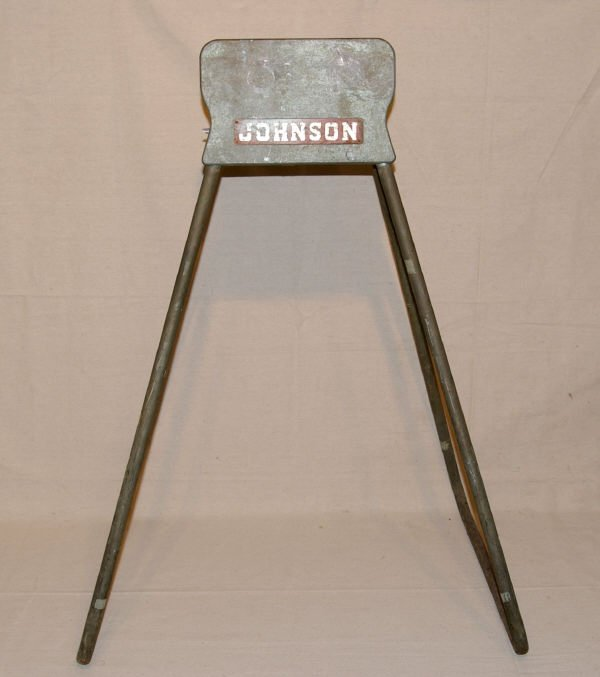 1090A: Vintage Johnson Outboard Motor Display Stand