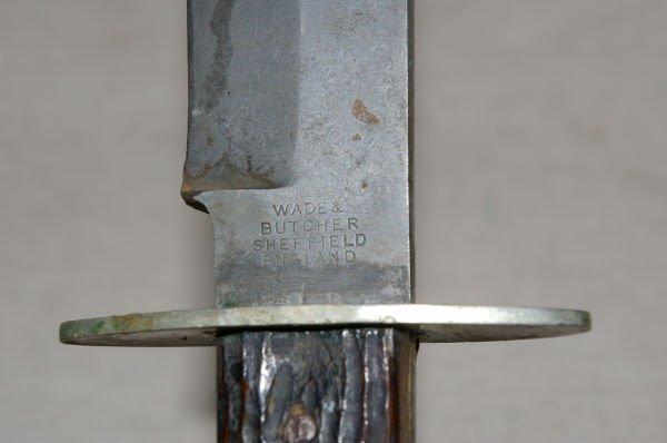 1142: Wade & Butcher Bowie Knife Sheffield England - 4