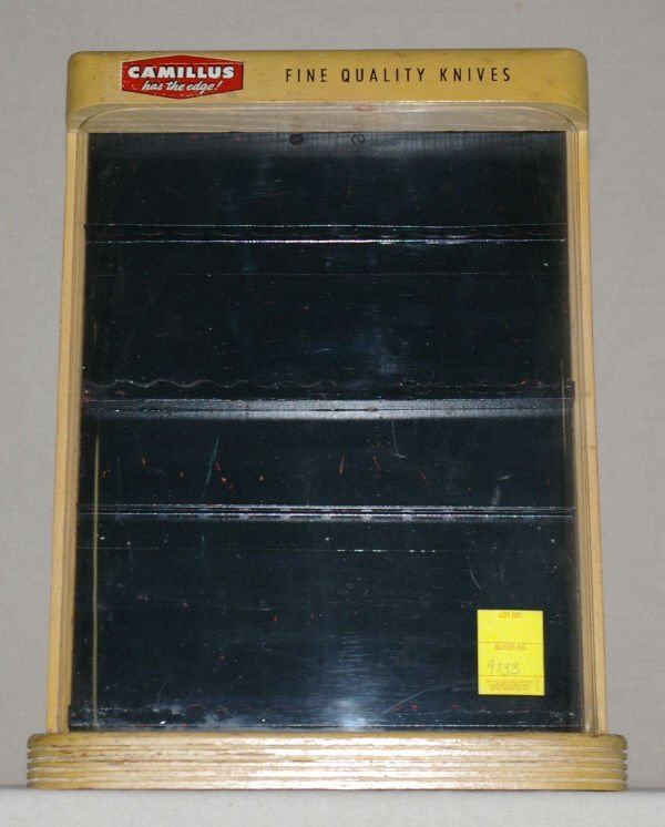 1342: Camillus Table Top Knife Display Case
