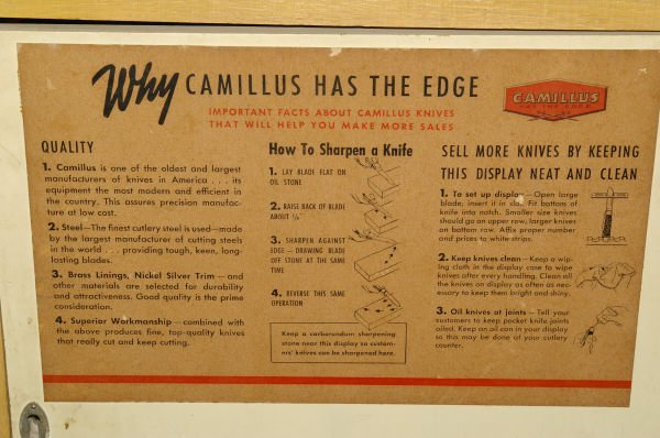 1342: Camillus Table Top Knife Display Case - 5