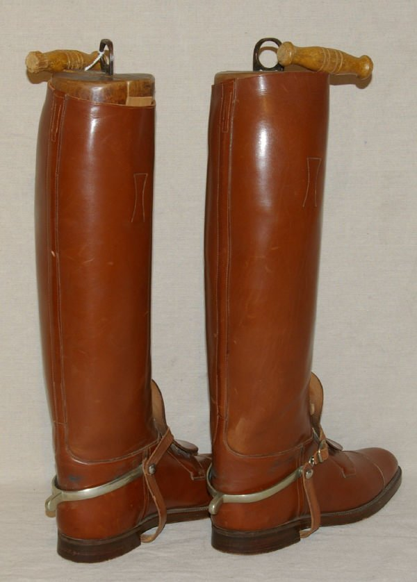 1417: Vintage English Riding Boots & Spurs Manfield - 3