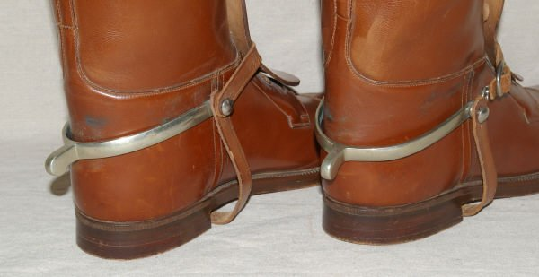1417: Vintage English Riding Boots & Spurs Manfield - 4