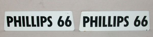 1504: Pair Of Phillips 66 Gas Pump Signs