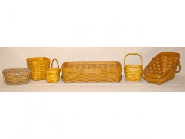 1505: Six Assorted Woven Baskets.