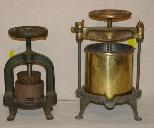 1517: Pair of Antique Brass Canning Presses
