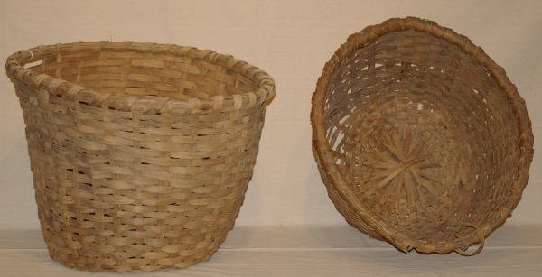 1520: Pair Of Woven Apple Baskets