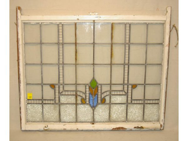 1602: Large Vintage Stained Glass WIndow