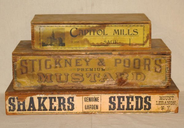 4: 3 Country Store Advertising Seed Boxes