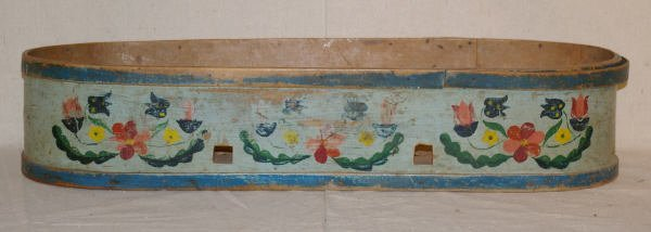 10: 18th Century Painted Baby Cradle
