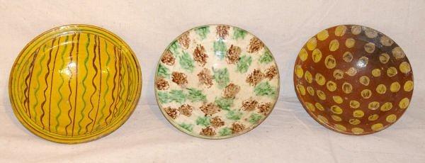 11: Lot Of Three Redware Bowls