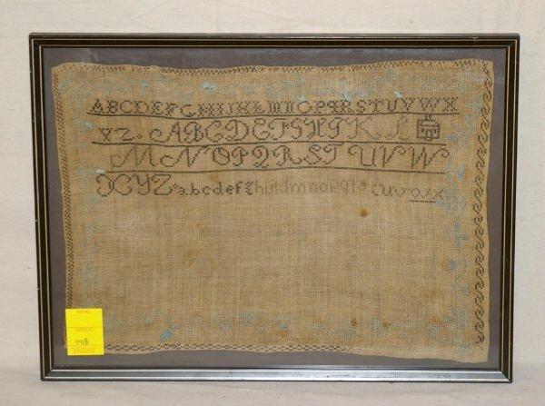 12: Framed Early American Sampler