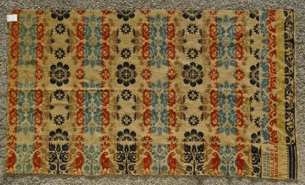 14: Early Pennsylvania 1/2 Coverlet Dated 1837