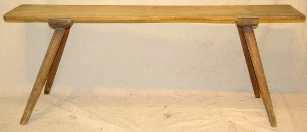 22: Primitive Milking Bench