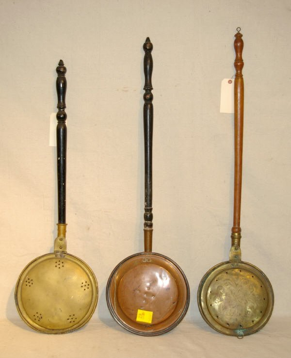 23: 3 Copper & Brass Bed Warmers