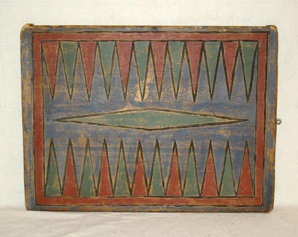 30: Folk Art Game Board