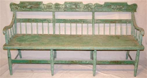 84: Early Green Painted Settle